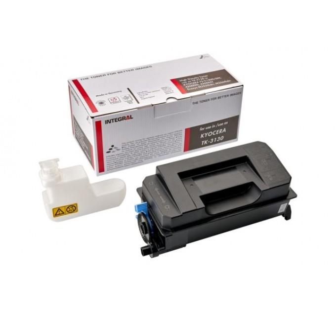 Картридж для принтера и МФУ INTEGRAL TK-3130 + Chip (аналог Kyocera TK-3130)